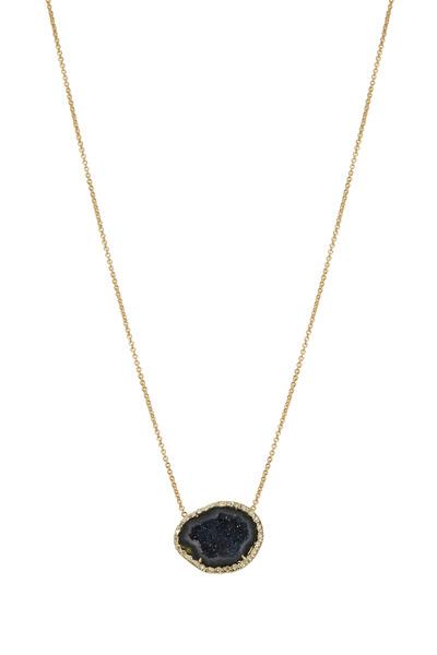 Kimberly McDonald - Yellow Gold Dark Geode Diamond Necklace