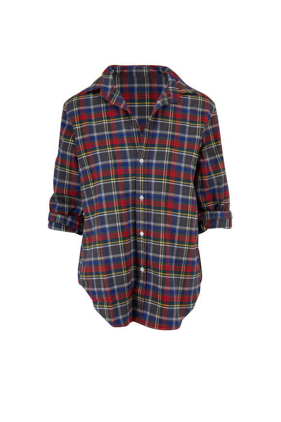 Frank & Eileen Frank Heather Gray, Red & Yellow Paid Button Down