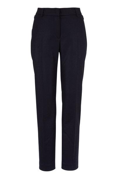 Akris - Melvin Navy Flannel Zip Pocket Pant
