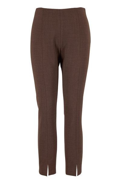 The Row - Sorroco Light Espresso Stretch Wool Pant