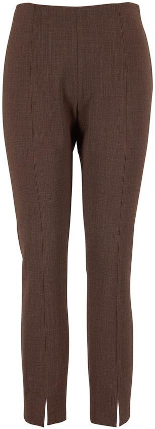 The Row Sorroco Light Espresso Stretch Wool Pant
