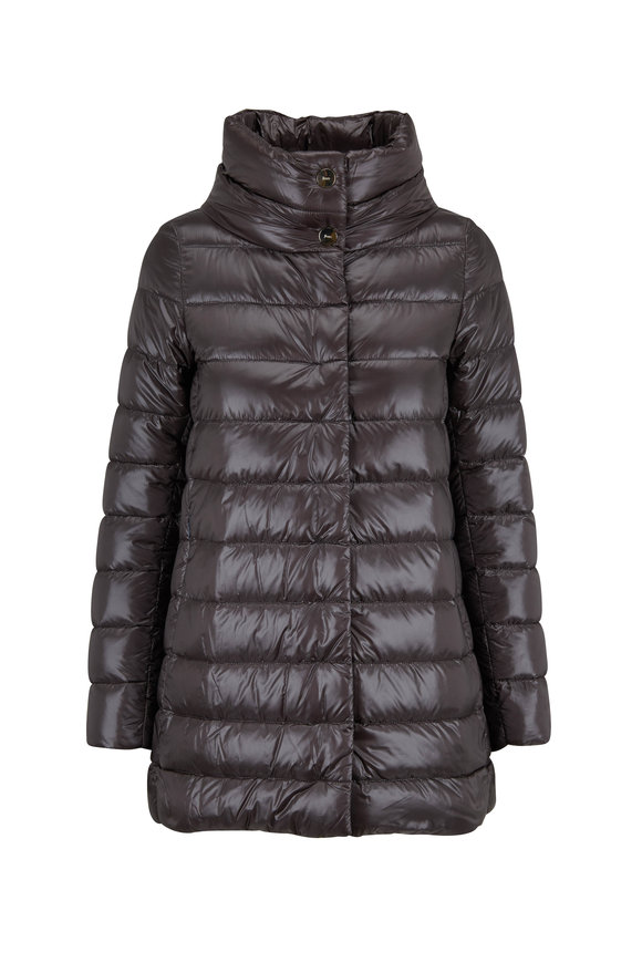 Herno Charcoal Hi-Low Puffer Jacket