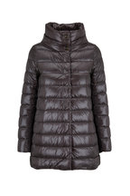 Herno - Charcoal Hi-Low Puffer Jacket