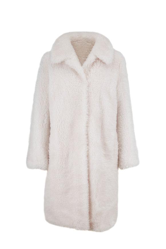 Yves Salomon  Ivory Lambswool Coat