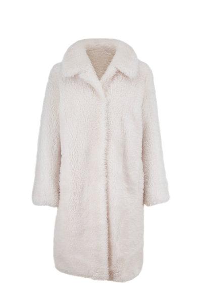 Yves Salomon - Ivory Lamb Wool Coat