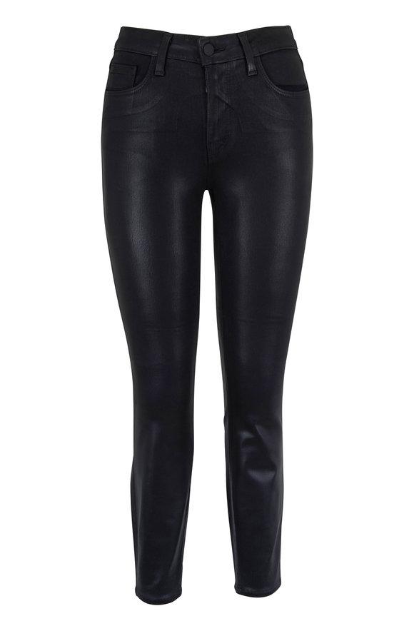 L'Agence Margot Black Coated High Rise Skinny Jean