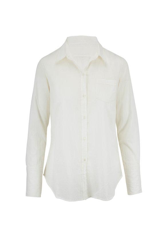 Nili Lotan Ivory Cotton Voile Shirt