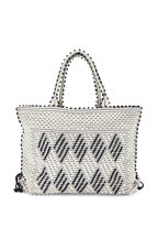 Antonello - Capriccioli Black & White Zig-Zag Medium Tote