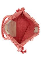 Antonello - Capriccioli Coral Zig-Zag Canvas Medium Tote