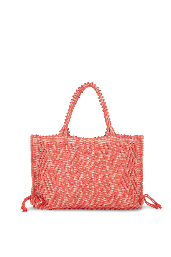 Antonello Capriccioli Coral Zig-Zag Canvas Medium Tote