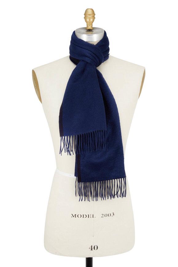 Ermenegildo Zegna Navy & Royal Silk Scarf