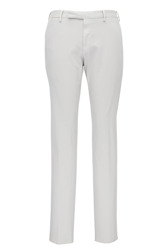 Ermenegildo Zegna White Brushed Cotton Regular Fit Pant