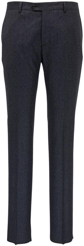Maurizio Baldassari Charcoal Wool Stretch Pants