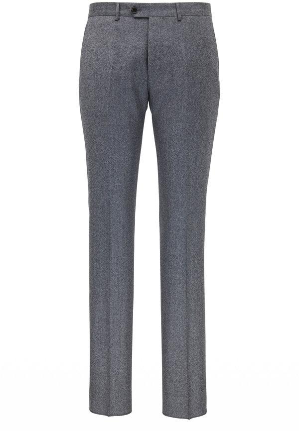 Maurizio Baldassari Medium Gray Flannel Wool Pant