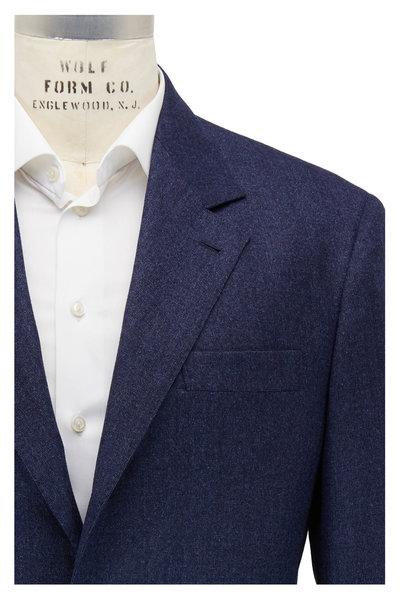Brunello Cucinelli - Ocean Blue Tick Wool Suit