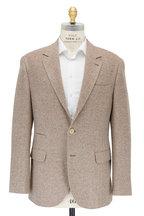 Brunello Cucinelli - Tan Chevron Wool & Cashmere Sportcoat