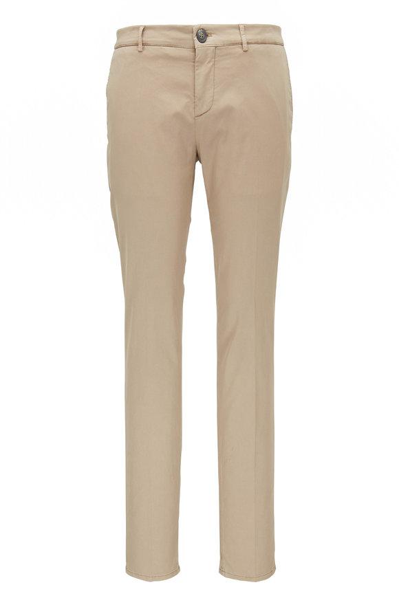Brunello Cucinelli Off White Slim Fit Pant