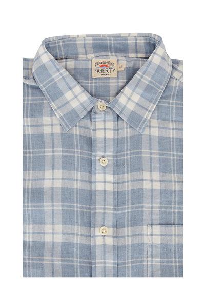 Faherty Brand - Ventura Light Blue Plaid Sport Shirt