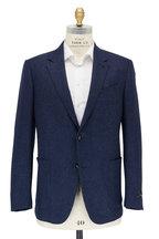 Ermenegildo Zegna - Trofeo Navy Blue Birdseye Wool Blend Sport Coat