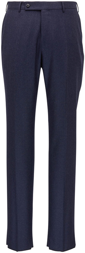 Ermenegildo Zegna Slate Flannel Regular Fit Pant