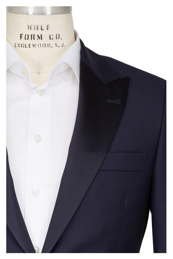 Brunello Cucinelli Navy Blue Wool Tuxedo