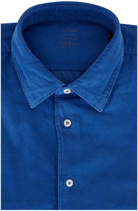 Altea Indigo Corduroy Sport Shirt
