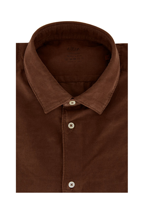 Altea Chocolate Brown Corduroy Sport Shirt