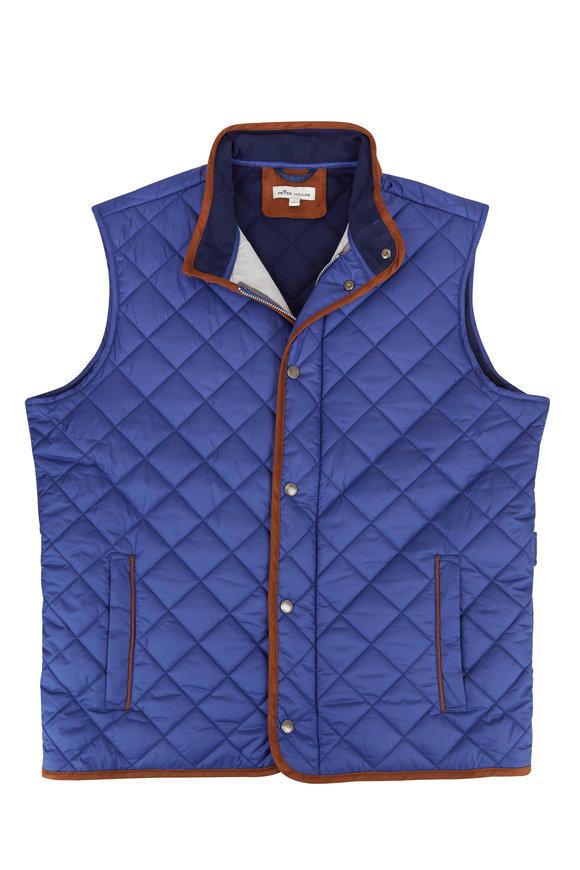 Peter Millar Essex Blue Quilted Traveler Vest