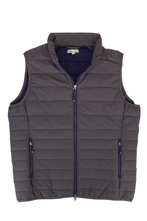 Peter Millar Crown Elite Smoke Lightweight Quilted Vest