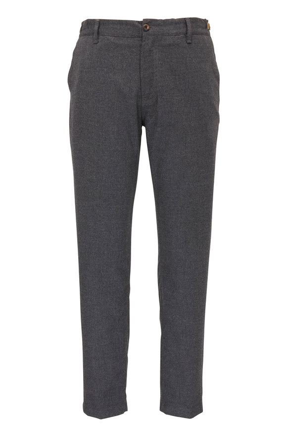 White Sands Charcoal Gray Marled Flannel Pant