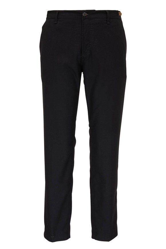 White Sands Black Marled Flannel Pant