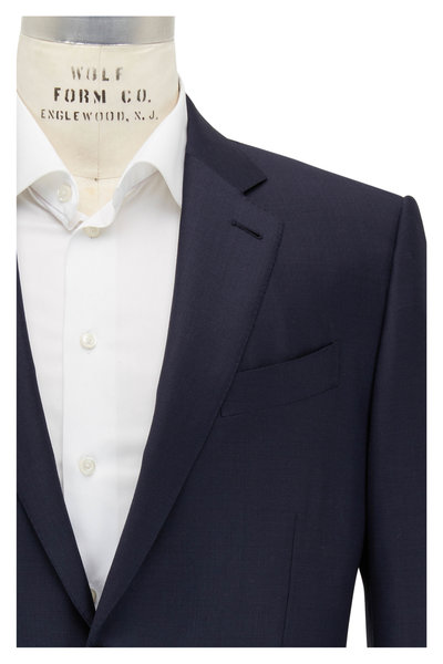 Ermenegildo Zegna - Trofeo Navy Blue Pindot Wool Suit