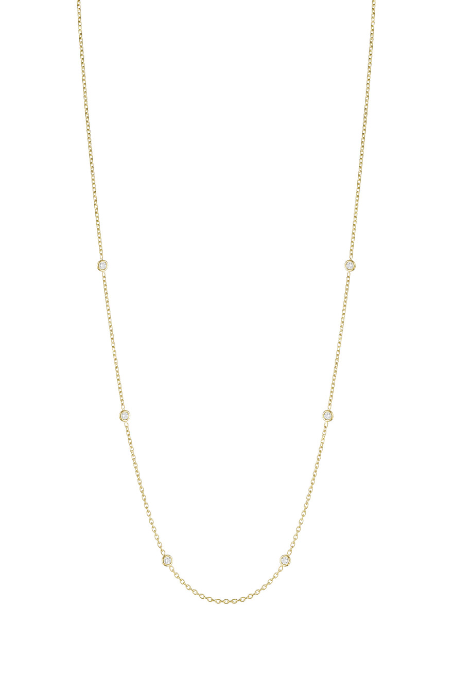 Yellow Gold Spectacle Set Diamond Chain