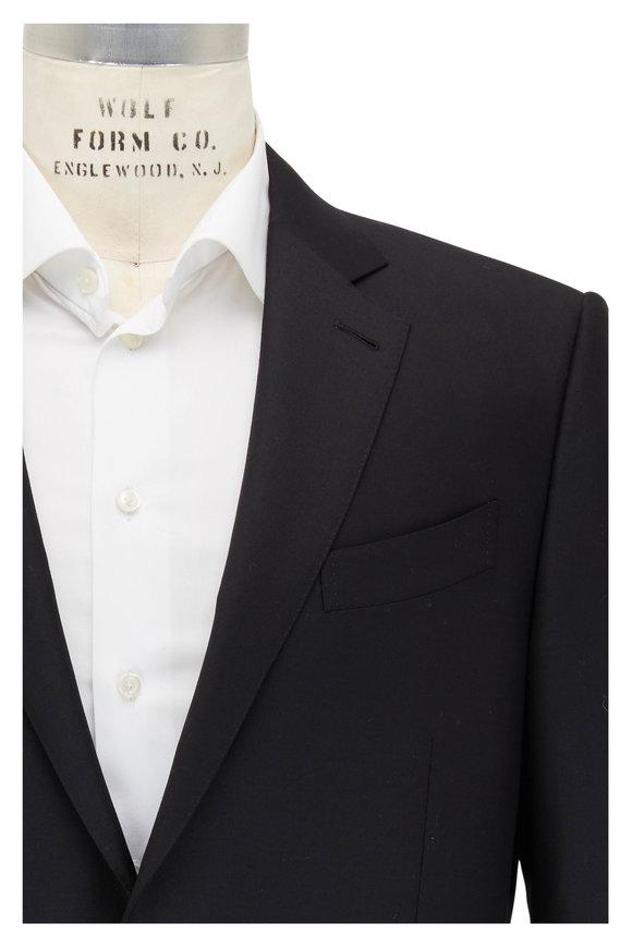 Ermenegildo Zegna Trofeo Black Wool Suit