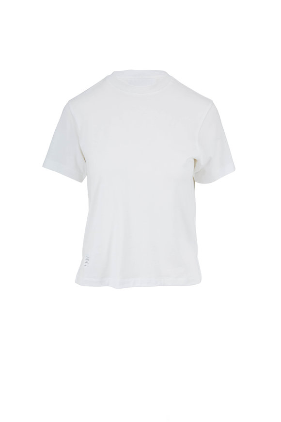 Thom Browne White Relaxed Fit Light Weight Jersey T-Shirt