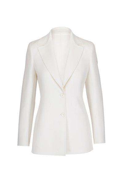 Akris - Deena Swan White Cashmere Blazer