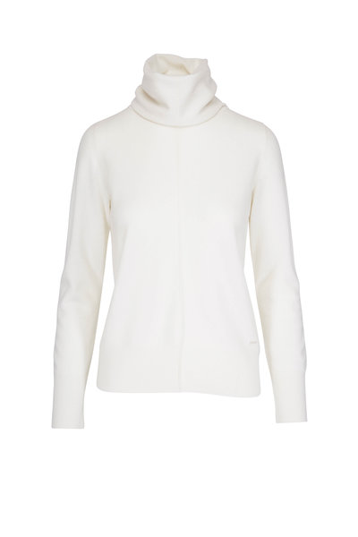 Akris - Swan White Cashmere Turtleneck