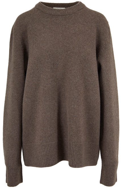 The Row Sinilla Dark Oak Melange Sweater
