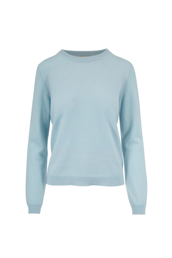 Jumper 1234 Light Blue Marl Cashmere Crewneck Sweater