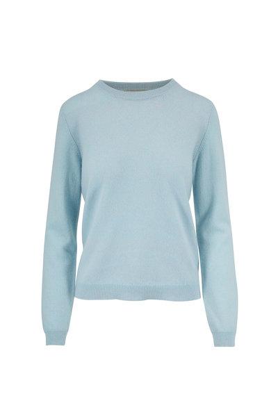 Jumper 1234 - Light Blue Marl Cashmere Crewneck Sweater