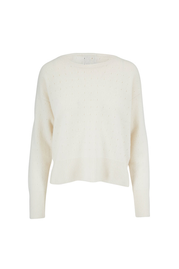Jumper 1234 Cream Cashmere Holy Boatneck Sweater