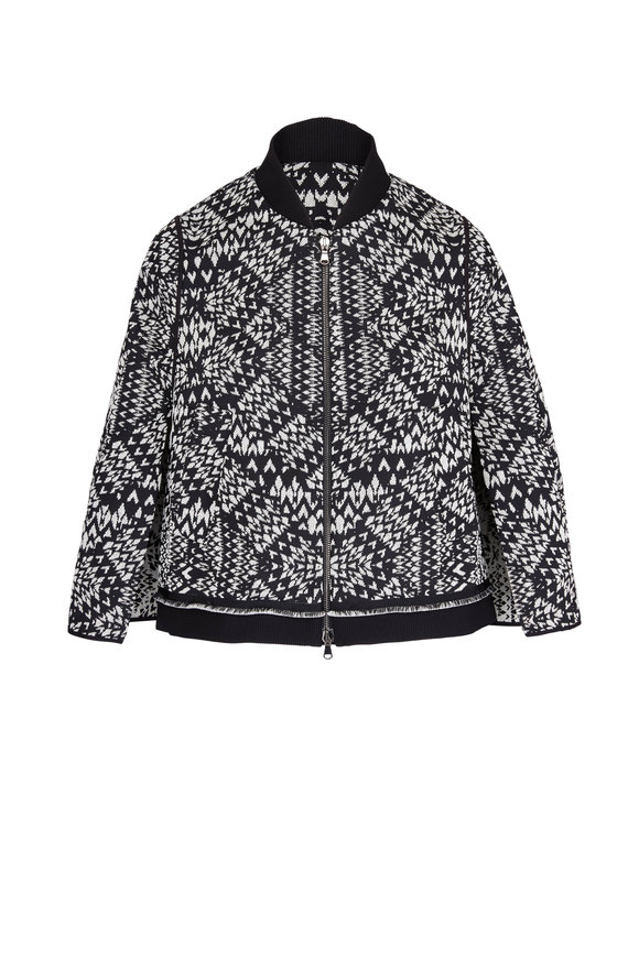 Dorothee Schumacher Globetrotter Black & White Geometric Short Jacket