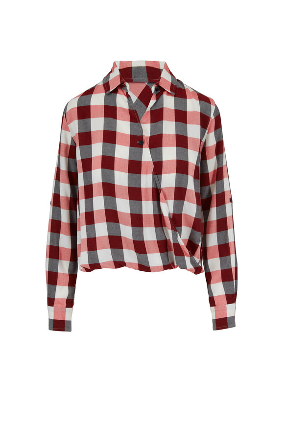 Rag & Bone Camile Red & Ivory Plaid Shirt