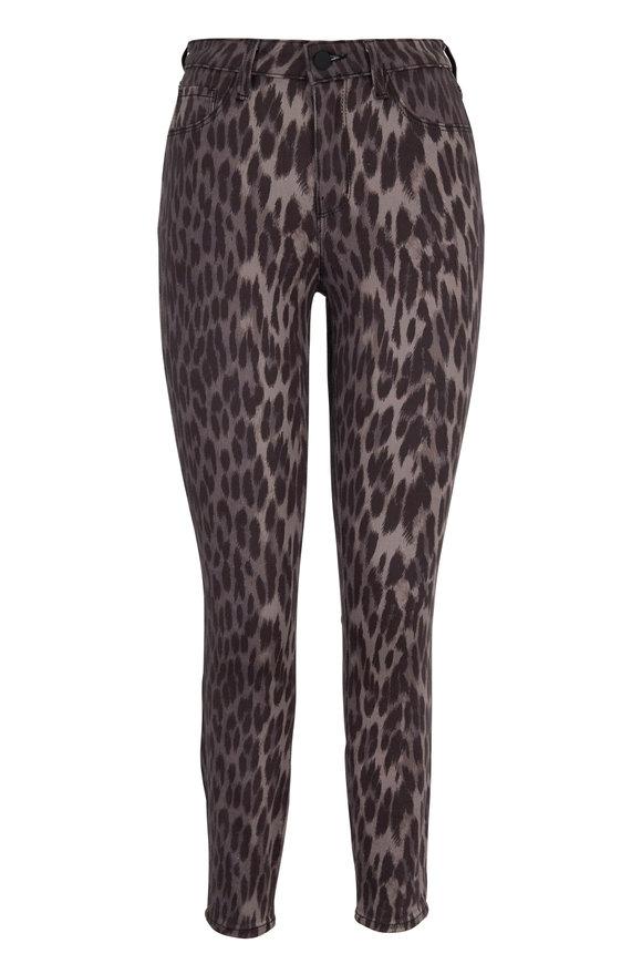 L'Agence Margot Animal Print High-Rise Ankle Skinny Jean