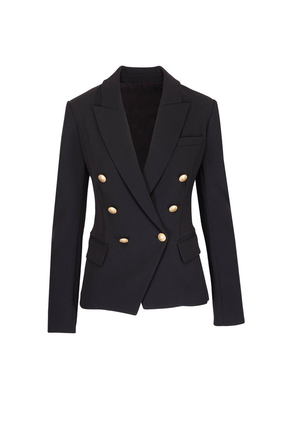 L'Agence Kenzie Black Double Breasted Blazer