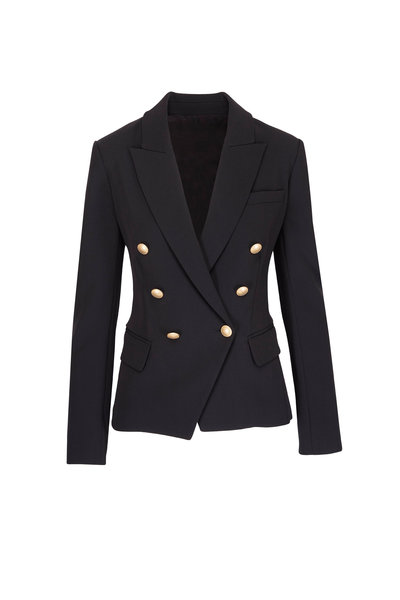 L'Agence - Kenzie Black Double Breasted Blazer
