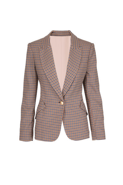 L'Agence - Chamberlain Multicolor Houndstooth Jacket