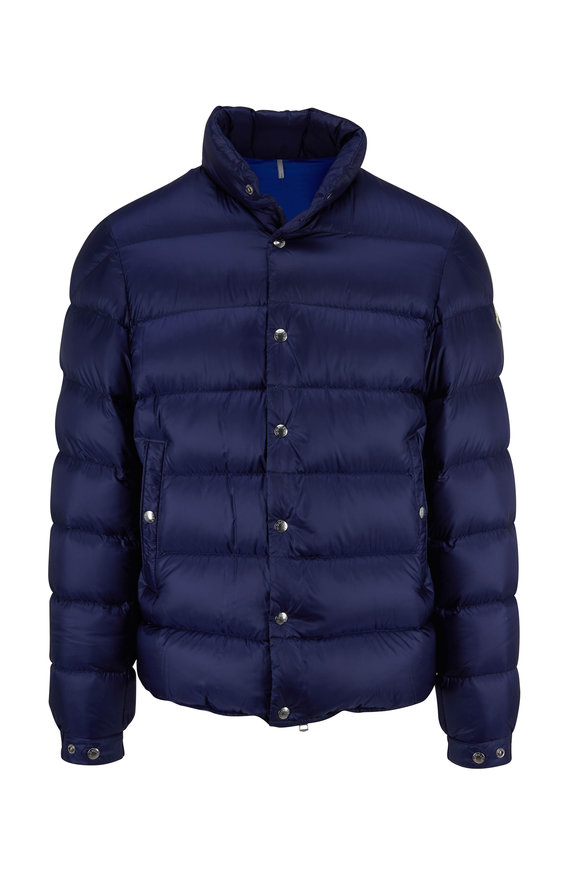 Moncler Piriac Dark Blue Quilted Jacket