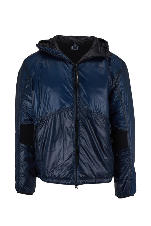 CP Company Translucent Teal Hooded Padded Jacket