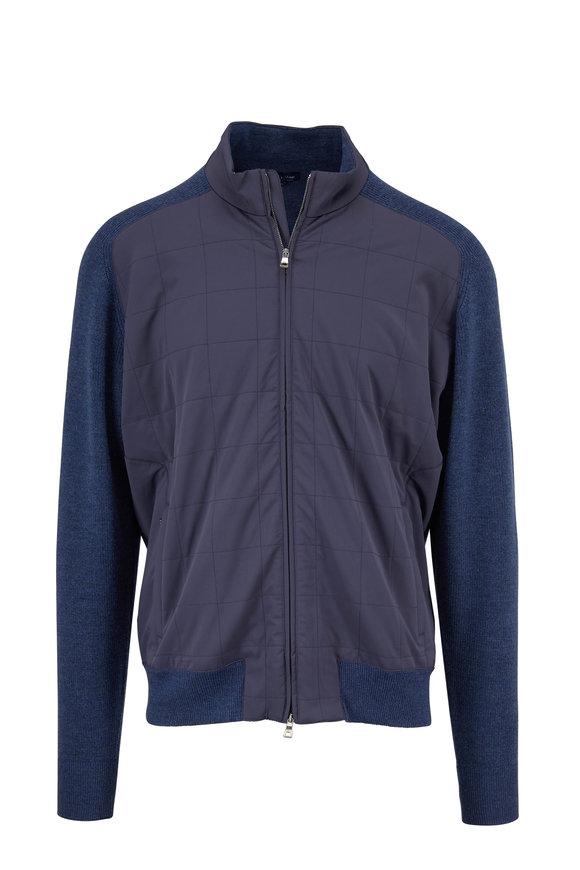 Peter Millar Crown Crafted Steel Knit Back Zip Jacket